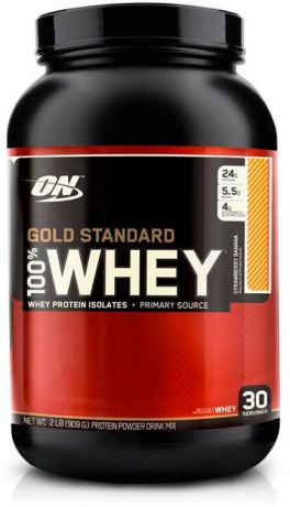 "Протеин Optimum Nutrition ""100% Whey Protein Gold Standard"", клубника, 900 г"
