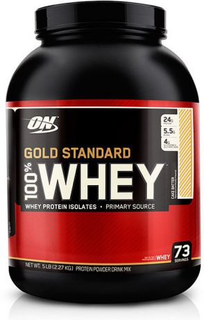 Протеин Optimum Nutrition 100% Whey Gold Standard Cake Batter, заварное пирожное, 2,27 кг