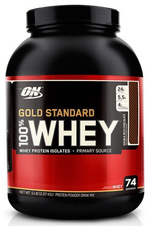 Протеин Optimum Nutrition 100% Whey Gold Standard Double Rich Chocolate, двойной богатый шоколад, 2,27 кг