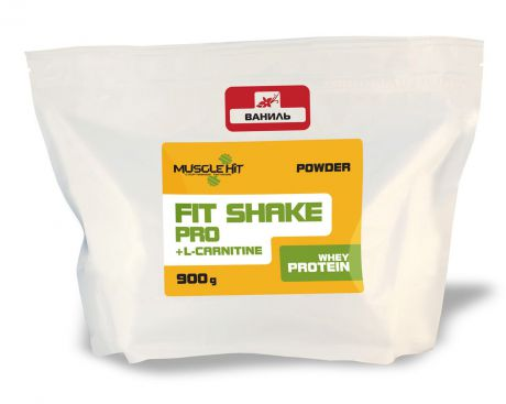 "Протеин Muscle Hit ""Fit Shake Pro"", с L-карнитином, ваниль, 900 г"