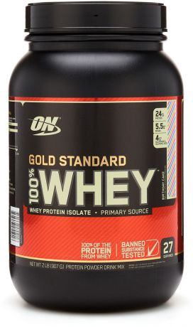 "Протеин Optimum Nutrition ""100% Whey Protein Gold Standard"", праздничный кекс, 900 г"