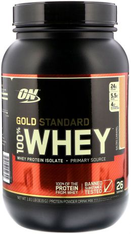 Протеин Optimum Nutrition 100% Whey Gold Standard Salted Caramel, соленая карамель, 819 г