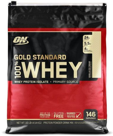 "Протеин Optimum Nutrition ""100% Whey Protein Gold Standard"", ваниль, 4,535 кг"