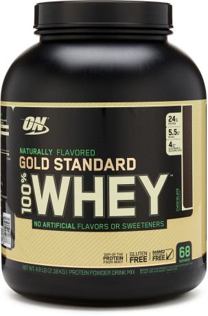 "Протеин Optimum Nutrition ""100% Natural Whey Gold Standard Gluten Free"", шоколад, 2,17 кг"