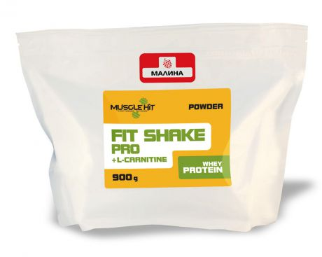 "Протеин Muscle Hit ""Fit Shake Pro"", с L-карнитином, малина, 900 г"