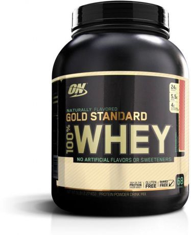 "Протеин Optimum Nutrition ""100% Natural Whey Gold Standard Gluten Free"", клубника, 2,17 кг"