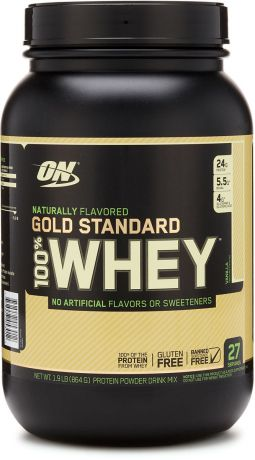"Протеин Optimum Nutrition ""100% Natural Whey Gold Standard Gluten Free"", ваниль, 860 г"