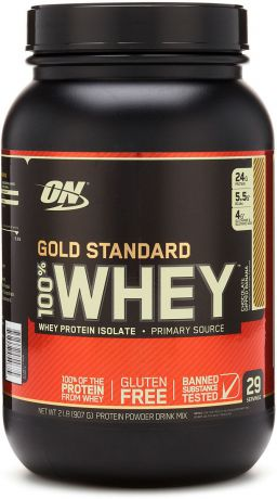 "Протеин Optimum Nutrition ""100% Whey Protein Gold Standard"", шоколад с бананом, 900 г"