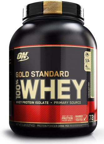 "Протеин Optimum Nutrition ""100% Whey Protein Gold Standard"", мятный шоколад, 2,26 кг"