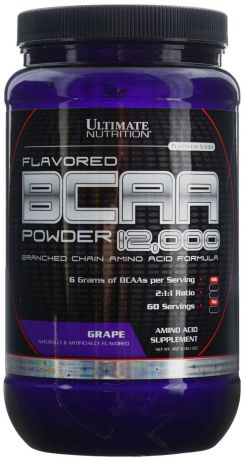 "Аминокислоты Ultimate Nutrition ""BCAA 12,000"", виноград, 457 г"