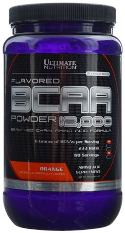 "Аминокислоты Ultimate Nutrition ""BCAA 12,000"", апельсин, 457 г"