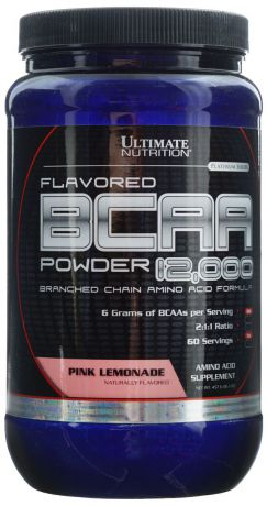 "Аминокислоты Ultimate Nutrition ""BCAA 12,000"", лимонад, 457 г"