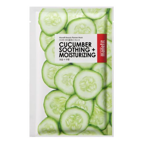 Manefit Beauty Planner Cucumber Soothing And Moisturizing Mask