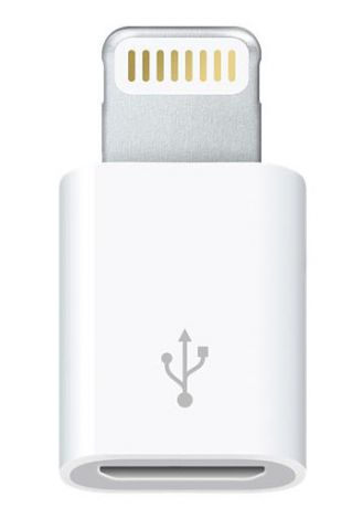 Адаптер Apple MD820ZM/A microUSB-(8pin) Original