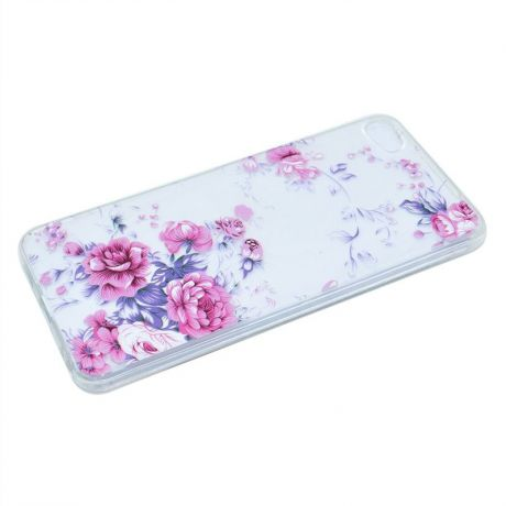 Premium Durable Soft TPU Cover Scratch Resistant Proctection Case for Meizu U10 (Pink Rose)