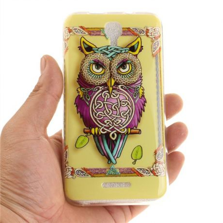 Asbeauty for Alcatel Pixi 4 5.0 5045D Ultra Slim Fit Soft TPU Phone Back Case Cover Protector (Colorful Owl)