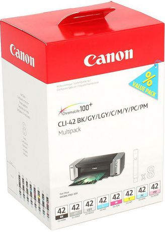 Картридж Canon CLI-42 Multi Pack для PRO-100. 8 чернил.