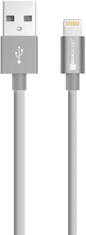 Дата-кабель MediaGadget NL-002M USB-Lightning Apple MFI 1м Grey