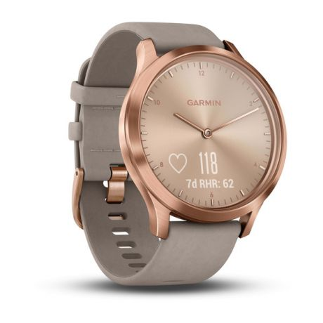 Смарт-часы Garmin vivomove HR, Premium, Rose Gold with Gray Suede