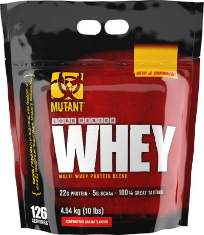 Протеин Mutant Whey Strawberry Cream, 4,54 кг