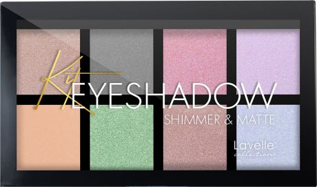 Тени для век LavelleCollection Shimmer&Matte, тон №02