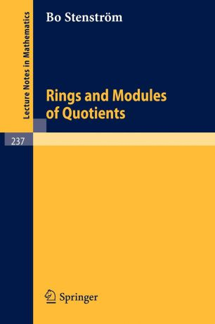 B. Stenström Rings and Modules of Quotients
