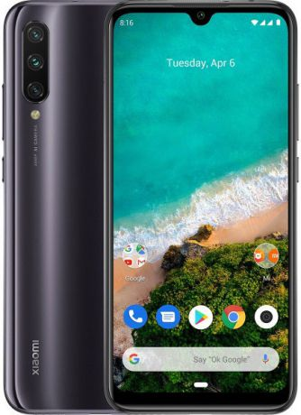 "Смартфон Xiaomi Mi A3 Kind of Grey (M1906F9SH) Qualcomm Snapdragon 665 (2.0)/4 Gb/64 Gb/6.088"" (1560 x 720)/DualSim/LTE/NFC/BT/Android 9.0"
