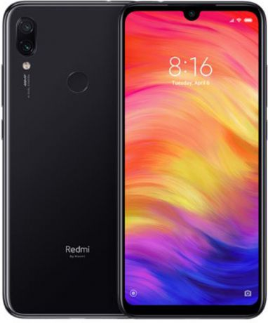 "Смартфон Xiaomi Redmi Note 7 Space Black (M1901F7G) Qualcomm Snapdragon 660 (2.2)/4 Gb/128 Gb/6.3"" (2340 x 1080)/DualSim/LTE/NFC/BT/Android 9.0"