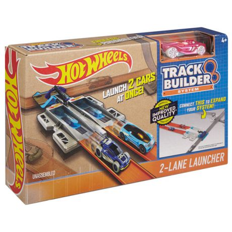 Mattel Hot Wheels DJD68 Хот Вилс Конструктор трасс 2-lane Launcher