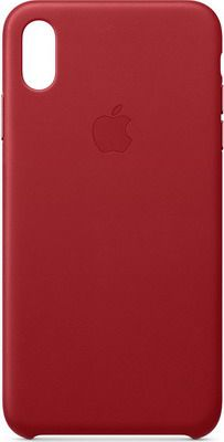 Чехол (клип-кейс) Apple Leather Case для iPhone XS Max цвет (PRODUCT)RED красный MRWQ2ZM/A