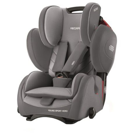 Автокресло группа 1/2/3 (9-36 кг) Recaro Young Sport Hero, Aluminium Grey