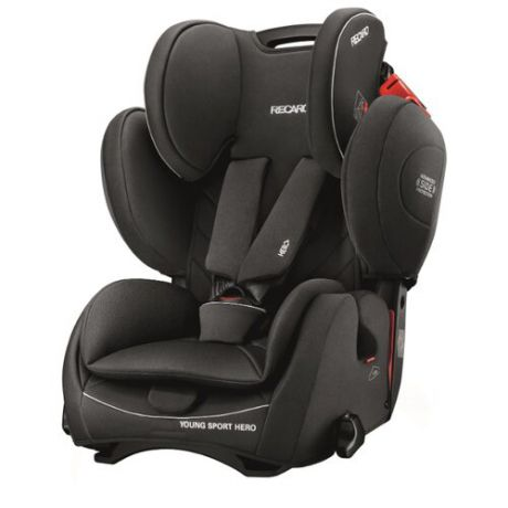 Автокресло группа 1/2/3 (9-36 кг) Recaro Young Sport Hero, Performance Black