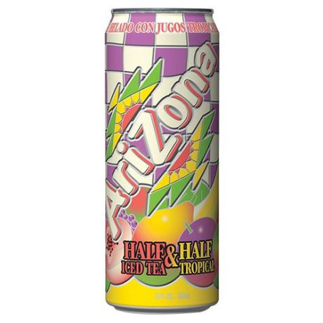Чай AriZona Half & Half Tropical, банка, 0.68 л