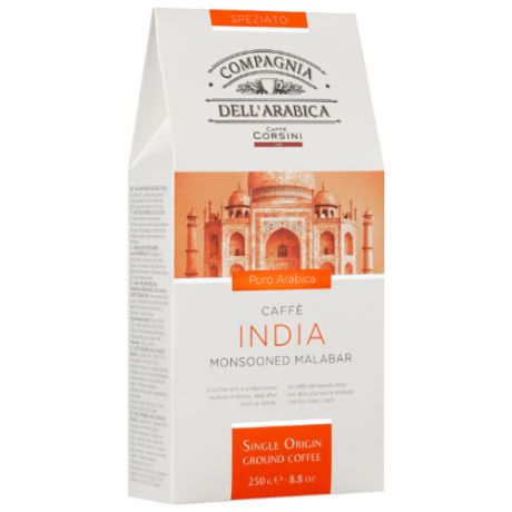 Кофе молотый Compagnia Dell` Arabica India Monsooned Malabar, 250 г