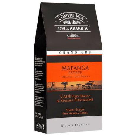 Кофе молотый Compagnia Dell` Arabica Grand Cru Mapanga Estate, 250 г