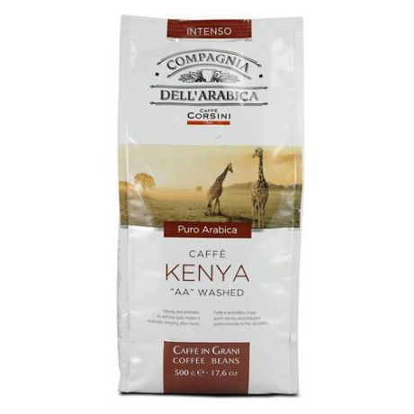"Кофе в зернах Compagnia Dell` Arabica Kenya ""AA"" Washed, арабика, 500 г"