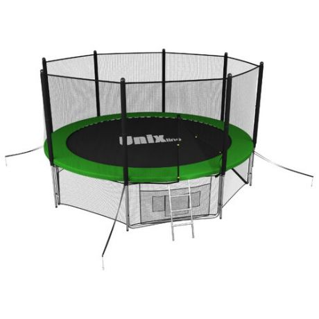 Каркасный батут Unix Line 10ft outside 305х305х241 см green