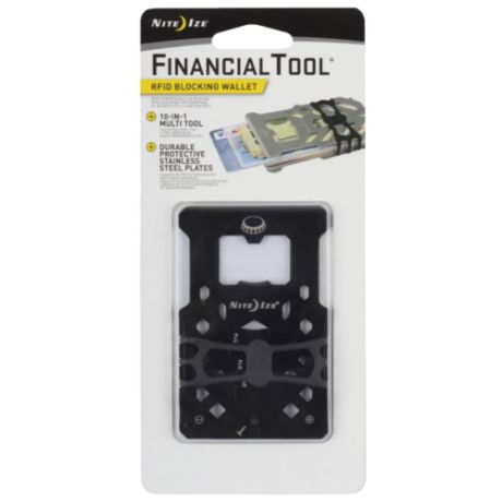 Мультитул Nite Ize Financial tool RFID (10 функций) черный