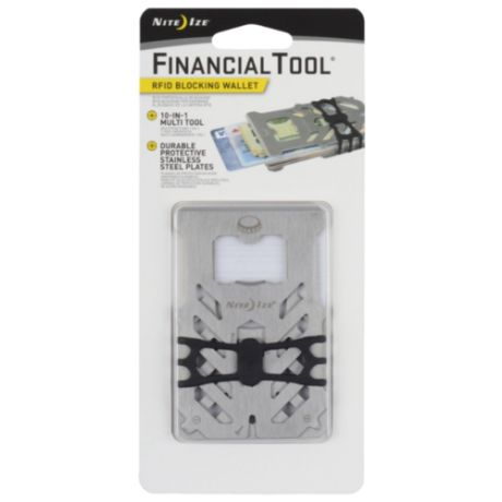 Мультитул Nite Ize Financial tool RFID (10 функций) стальной
