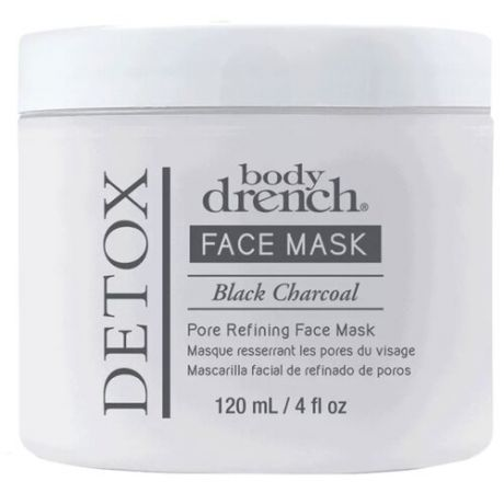 Body Drench Очищающая детокс-маска Detox Face Mask Black Charcoal Pore Refining , 120 мл