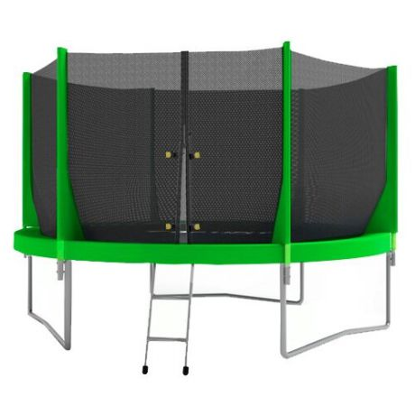 Каркасный батут Optifit Jump 8ft 244х244х215 см зеленый