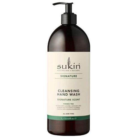 Мыло жидкое Sukin Signature Cleansing Hand Wash с экстрактами трав, 1000 мл