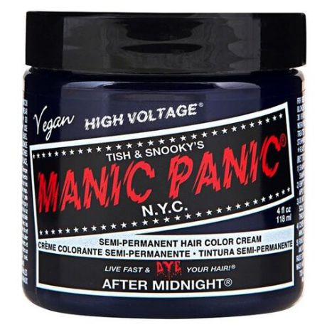Крем Manic Panic High Voltage After Midnight синий оттенок, 118 мл