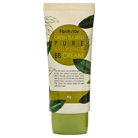 Farmstay Green Tea Seed BB крем Pure Anti-Wrinkle 40 гр, оттенок: бежевый