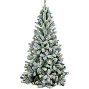 Елка искусственная Royal Christmas Flock Tree Promo Warm LED заснеженная 164150LED (150см)