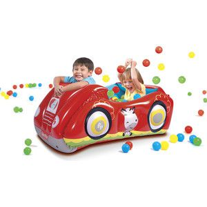 Игровой центр Bestway 93520 Машина (с 25 шариками) Fisher Price 119 х 79 х 51 см