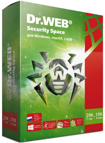 Dr. Web Security Space 2 ПК/1 год