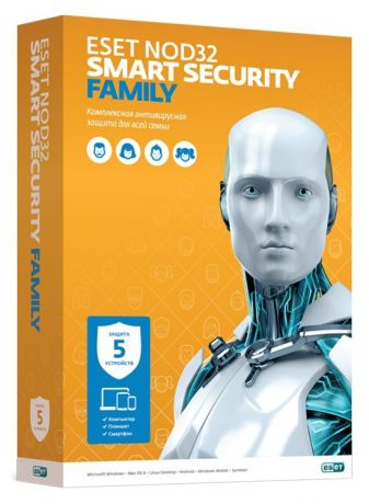 ESET NOD32 Smart Security Family лицензия на 1 год на 5ПК