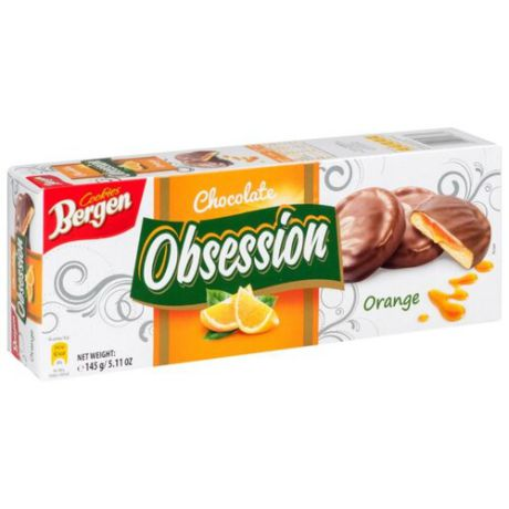 Печенье Bergen Chocolate Obsession Orange 145 г