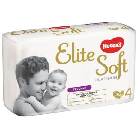 Huggies трусики Elite Soft Platinum 4 (9-14 кг) 36 шт.